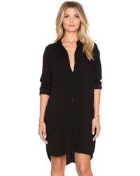 Lacausa | Wool Mini Shirt Dress | Lyst