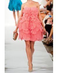 Oscar de la Renta Layered Tulle And Silk Dress - Lyst