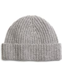 Brooks Brothers Gray Cashmere Hat - Lyst