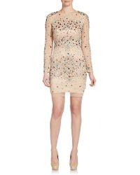 Adrianna Papell Embellished Mini Dress - Lyst
