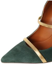 Malone Souliers 110mm Maureen Cutout Suede Sandals - Green