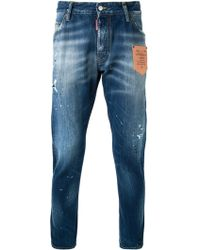DSquared² 'Kenny Leather Pocket' Trousers - Lyst