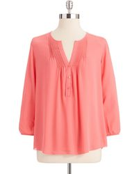Not Your Daughter's Jeans Peasant Blouse - Lyst