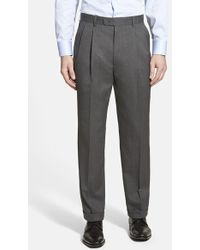 Linea Naturale Pleated Wool Dress Pants - Lyst