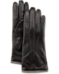 Grandoe Seamed Leather Gloves - Lyst