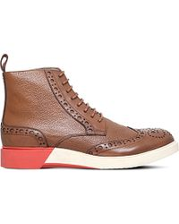 Anthony Miles Burrel Leather Boots - Brown
