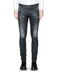 DSquared² 'Tidy Biker' Criss-Cross Stitch Jeans black - Lyst