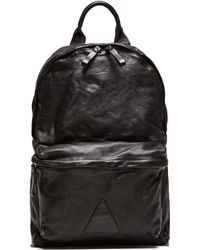 Officine Creative Leather Backpack - Black