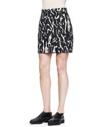 Proenza Schouler Printed Flocked Mini Skirt - Lyst