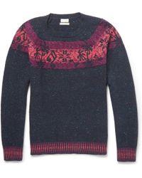 Paul Smith Palm Tree-intarsia Wool-blend Sweater - Lyst