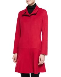 Sofia Cashmere Wool-Cashmere Princess Flared Coat pink - Lyst