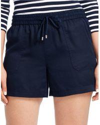 Lauren by Ralph Lauren - Plus Drapey Drawstring Shorts - Lyst