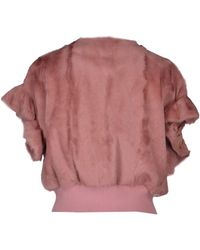 RED Valentino Leather Outerwear - Pink
