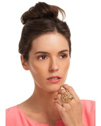 Trina Turk - Domed Flower Cocktail Ring - Lyst