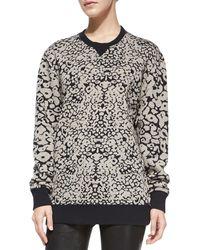 Rag & Bone Amoebaprint Knit Sweatshirt 6pblack Medium - Lyst