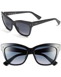 Dior Women'S 'Jupon' 55Mm Retro Sunglasses - Black - Lyst