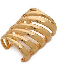 Rachel Zoe Safari Wide Cutout Cuff Bracelet - Metallic