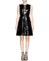 Erdem Elaine Croc Embossed Patent Leather Dress - Lyst