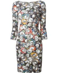 Moschino Floral Print Dress multicolor - Lyst