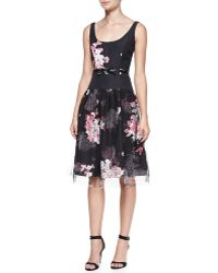 Milly Natalie Floralprint Sleeveless Cocktail Dress - Lyst