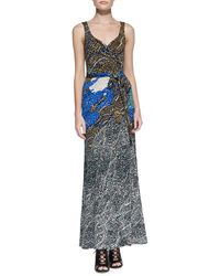 Diane Von Furstenberg Printed Maxi Wrap Dress Mntm Jwls New 2 - Lyst
