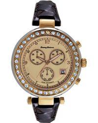 Tommy Bahama - Women'S Swiss Brown Woven Leather Strap Watch 40Mm Tb2160 - Lyst