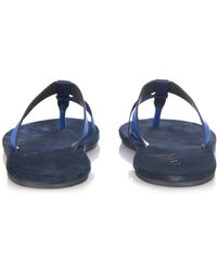 Lanvin - Leather and Suede Thong Flip Flops - Lyst