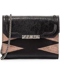 DANNIJO - Beckett Metallic Leather Clutch Bag - Lyst