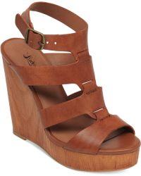 Lucky Brand Women'S Roselyn Platform Wedge Sandals - Lyst