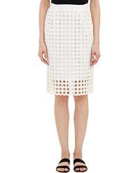 Sea Eyelet Pencil Skirt white - Lyst