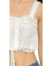 Spell - Sahara Lace Crop Top - White - Lyst