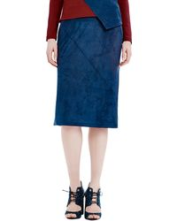 Raoul - Woven Seamed Pencil Skirt - Lyst