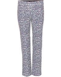 Tory Burch Ponte Printed Trousers - Lyst