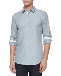 John Varvatos Slim-Fit Contrast Placket Shirt - Lyst