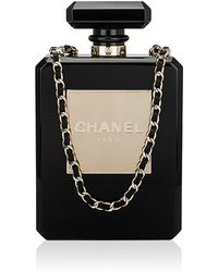 Madison Avenue Couture Chanel Collector'S Black No 5 Perfume Bottle Evening Bag