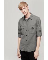 Rag & Bone Gray Jack Shirt - Lyst