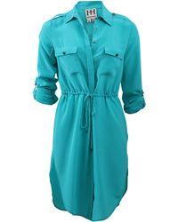 Haute Hippie Shirt Dress With Drawstring Waist - Lyst