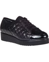 Aquatalia by Marvin K Angelina Platform Sneaker Black Leather - Lyst
