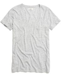 Madewell Slub V-Neck Pocket Tee gray - Lyst