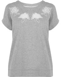 Karen Millen Embroidered Sweatshirt - Lyst