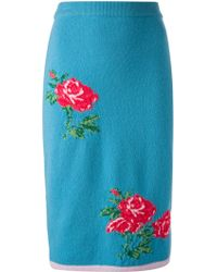 Sister by Sibling | Knitted Rose Motif Skirt | Lyst