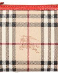 Burberry Peyton Haymarket Check Leather Bag - Lyst