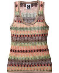 M Missoni Abstract Print Fine Knit Top - Lyst