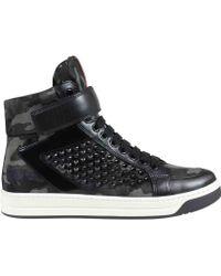 Prada Sneakers Camouflage Con Borchie - Lyst