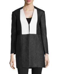 M Missoni Colorblock V-neck Jacket - Lyst