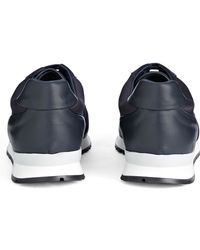 JOSEPH - Mixed Leather Trainer - Lyst