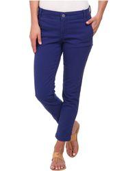 Calvin Klein Jeans Abbreviated Crop Straight Leg Pant - Lyst