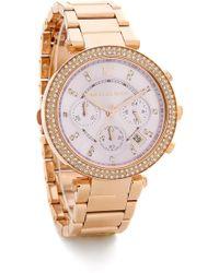 Michael Kors Parker Watch - Rose Gold/Lavender - Lyst