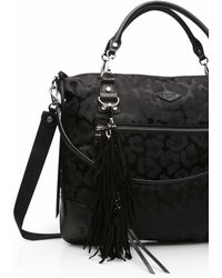 MZ Wallace - Black Leather With Silver Jerry Tassel New - Lyst