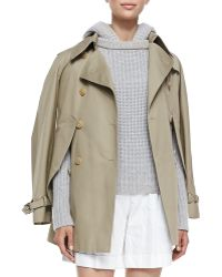 Michael Kors Convertible Capetrench Jacket - Lyst